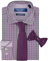 GRAHAM AND CO Graham & Co. Dress Shirt, Tie and Pre-Tied Bow Tie