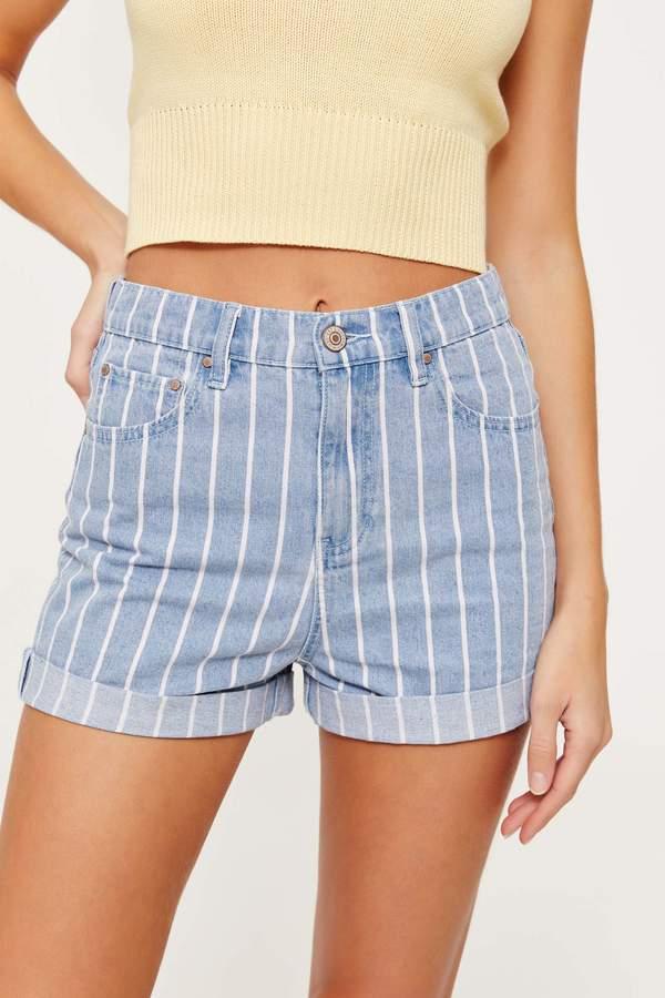 403b45fe0b Jean Shorts Striped - ShopStyle