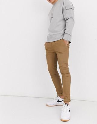 Burton Menswear super skinny chinos in tan