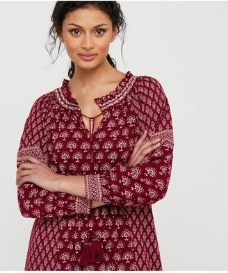 Monsoon Heshna Print Midi Dress - Berry
