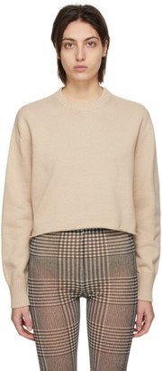 MM6 MAISON MARGIELA Beige Elbow Patch Sweater