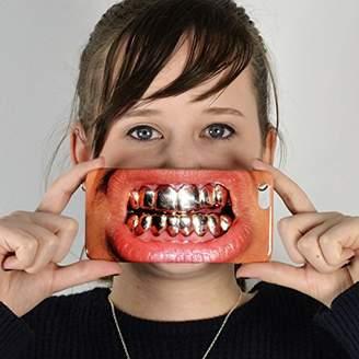Gold Teeth iPhone Face Case