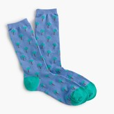 J.Crew Trouser socks in palm tree print