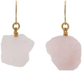 Märta Larsson Rose quartz drop earrings
