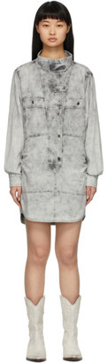 Etoile Isabel Marant Grey Denim Inaroa Shirt Dress