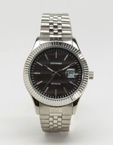 Sekonda Silver Bracelet Watch With Black Dial Exclusive To ASOS