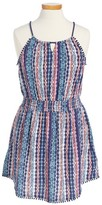 Ella Moss Girl's Jaye Print Smocked Dress