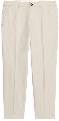 Arket Regular Trousers Cotton Linen