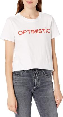 Lucky Brand Women's Short Sleeve Crew Neck Optimistic Graphic Tee