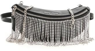Miu Miu Crystal Fringed Belt Bag