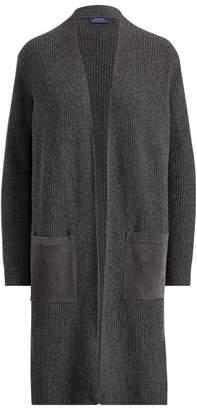 Ralph Lauren Wool-Cashmere Open Cardigan