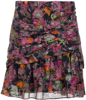 IRO Nuada abstract print mini skirt