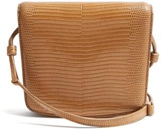 The Row Julien Lizard-skin Shoulder Bag - Light Brown