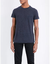 Tom Ford Marl-effect Cotton And Cashmere-blend T-shirt