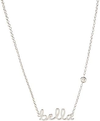 Shy By Se Sterling Silver Diamond 'Bella' Pendant Necklace - 0.015 ctw