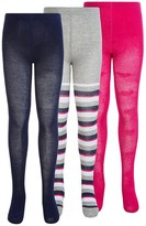 Keds Full-Footed Tights - 3-Pack (For Little and Big Girls)
