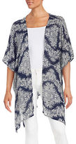 Design Lab Lord & Taylor Paisley Open-Front Topper