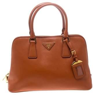 Prada Promenade Orange Leather Handbags