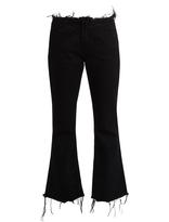 Marques Almeida MARQUES'ALMEIDA Frayed-edge cropped flared jeans