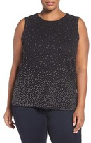 Nic+Zoe Plus Size Women's Visionaire Studded Knit Tank