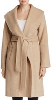 Eileen Fisher Merino Wool Shawl Collar Coat