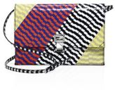 Proenza Schouler Small Colorblock Snakeskin Lunch Bag