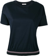 Moncler ribbed hem T-shirt - women - Cotton - XS