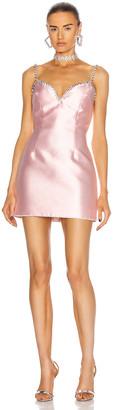 Area Crystal Trim Sweetheart Dress in Light Pink | FWRD