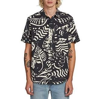 Volcom Men's Scrap Floral Button Up Short Sleeve Shirt