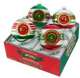 Christopher Radko Holiday Splendor Set Of 4 Glass Ornaments