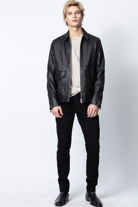 Zadig & Voltaire Bobby Crinkle Leather Jacket