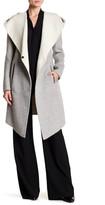 Mackage Hooded Double Face Wool Blend Coat