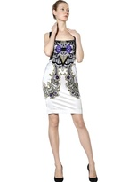 Just Cavalli Baroque Print Satin Dress