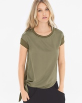 Soma Intimates X by Gottex Fabric Mixing Short Sleeve Tee