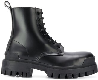 Balenciaga military-style ankle boots