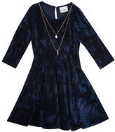 Rare Editions Girls 2-6x Crushed Velvet Fit-and-Flare Dress