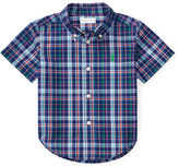 Ralph Lauren Boy Plaid Cotton Poplin Shirt