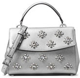 MICHAEL Michael Kors Crystal Embellished Saffiano Leather Satchel