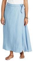 Chaps Plus Wrap Maxi skirt