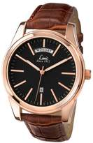 Limit Rose Gold Day/date Strap Watch 5484.02