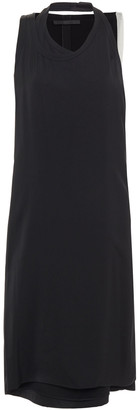 Helmut Lang Layered Organza-trimmed Satin Dress
