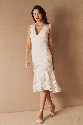 Anthropologie ML Monique Lhuillier x BHLDN Lorre Dress By in White Size 2