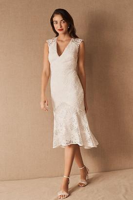 Anthropologie ML Monique Lhuillier x BHLDN Lorre Dress By in White Size 8