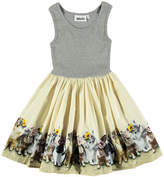Molo Cassandra Sleeveless Dress w/ United Bunnies Skirt, Size 2T-12