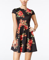 B. Darlin Juniors' Printed Fit & Flare Dress