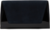 Diane von Furstenberg Uptown suede and patent-leather clutch