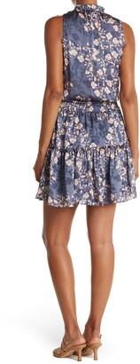 Love Stitch Floral Drop Waist Ruffled Mini Dress