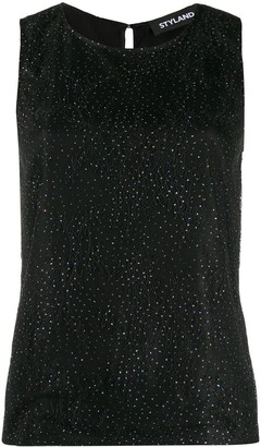Styland Embellished Lace Tank Top