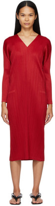 Pleats Please Issey Miyake Red Monthly Colors November Dress