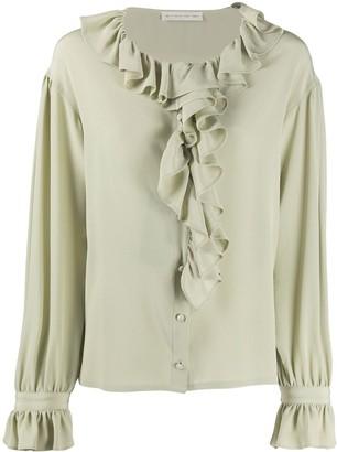 Etro Ruffle Trimmed Silk Blouse